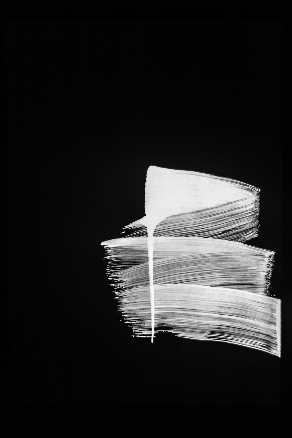 white paper with black background