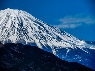 Chiba snow covered mountain under blue sky during daytime
