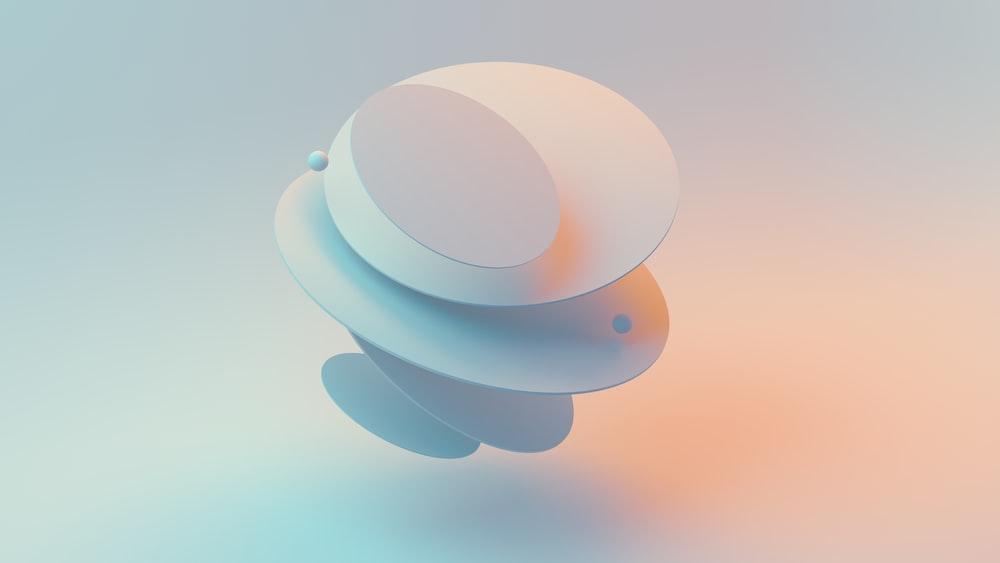 blue and white round illustration
