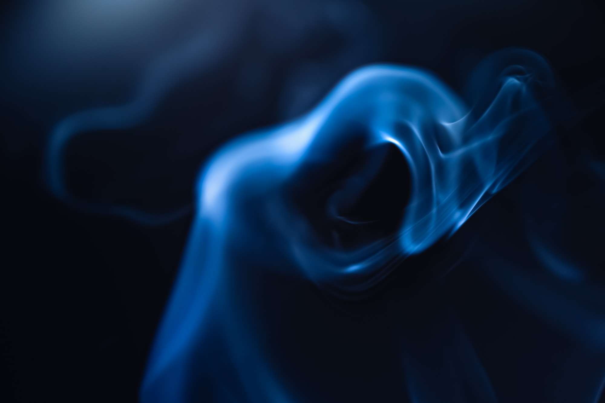 Ghostly hand made of smoke