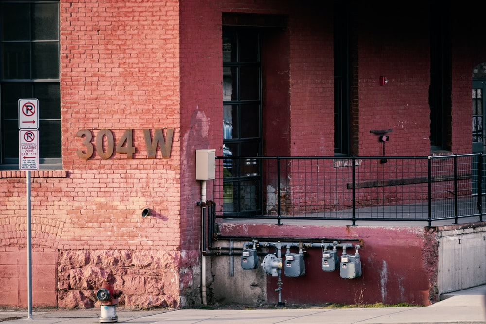 red and brown brick building