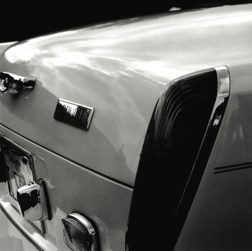 white and black car door