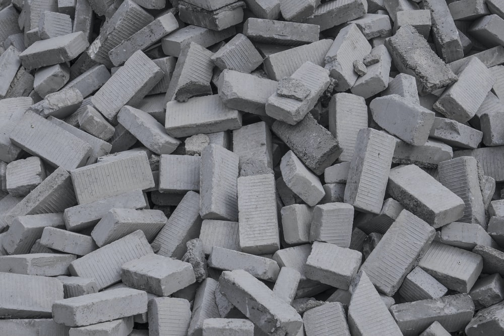 gray and white concrete blocks