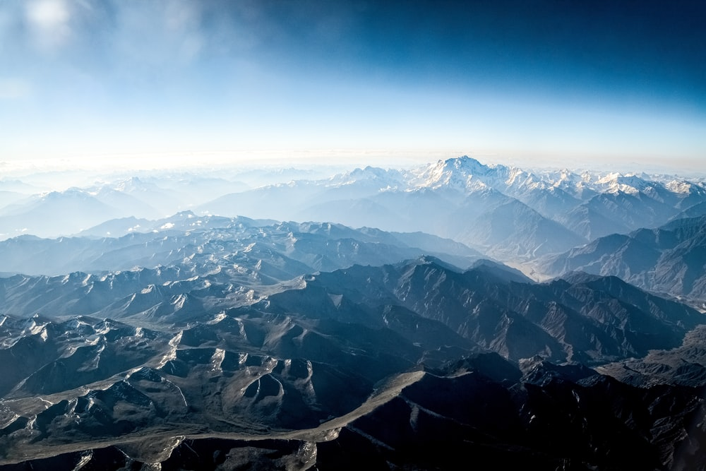 aerial view of mountains during daytime