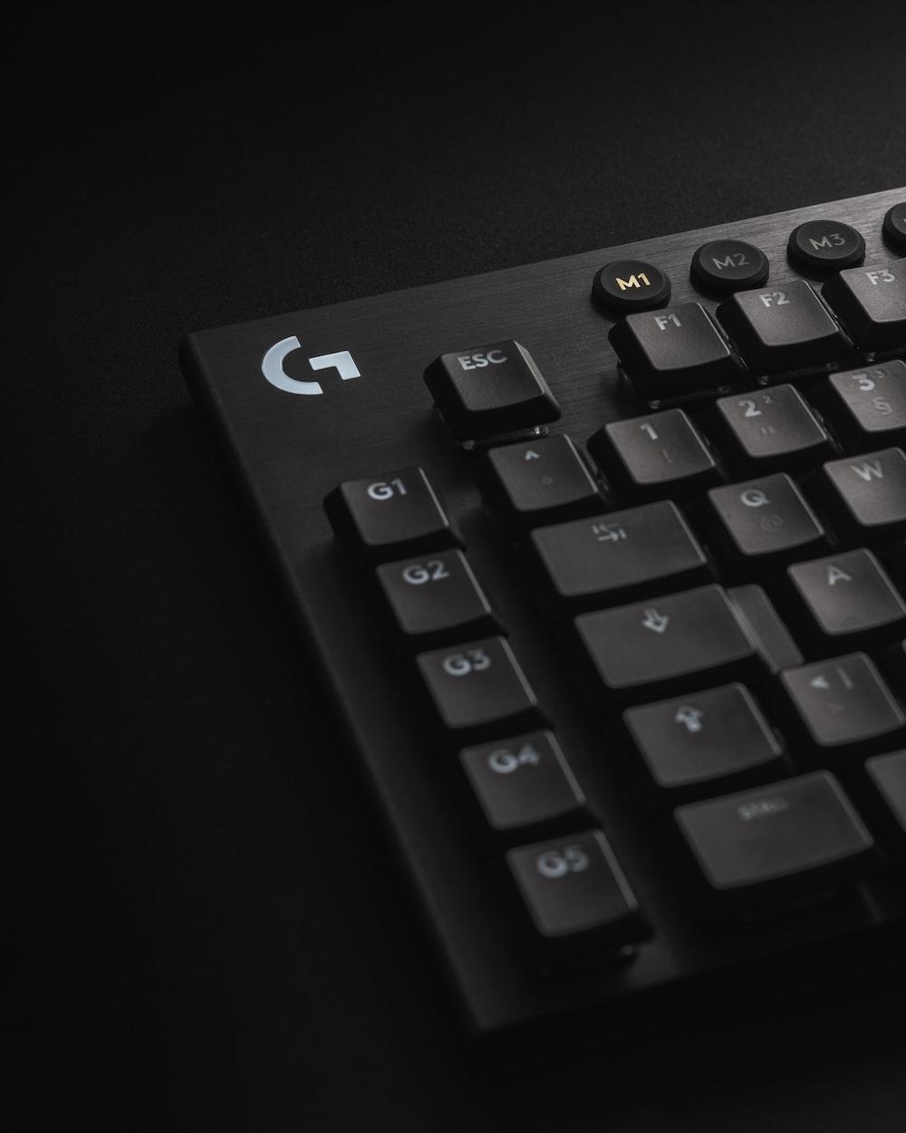 black computer keyboard showing number keys