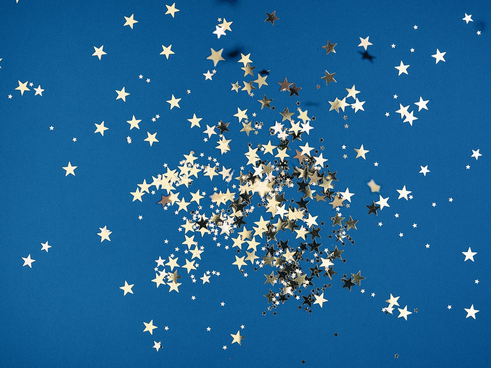 white and black butterflies on blue sky