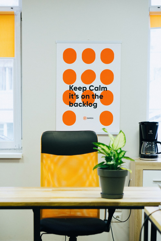 white and orange polka dot card