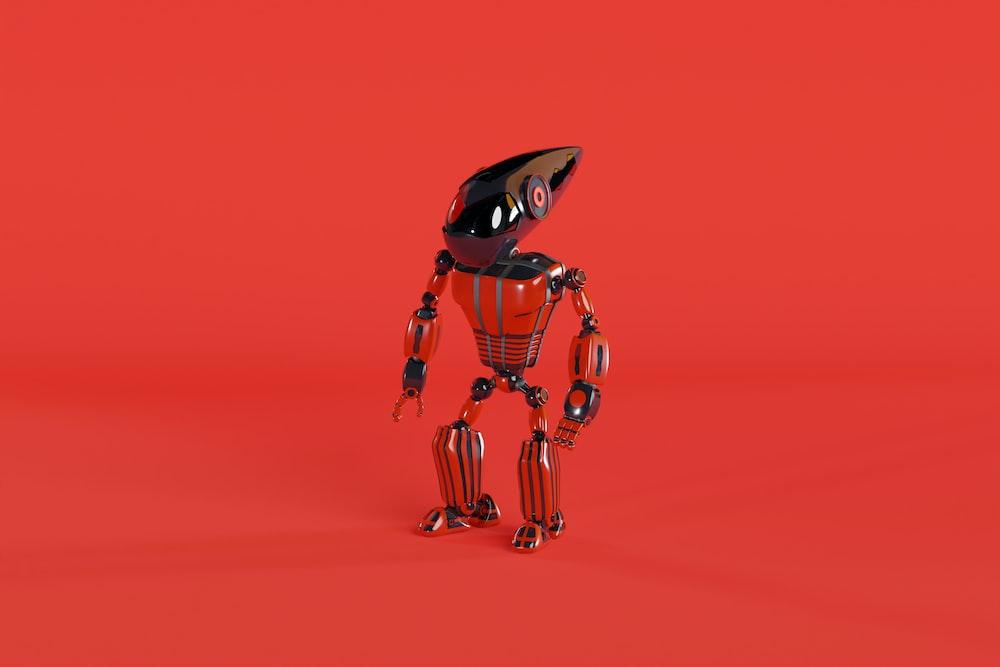orange and black robot illustration