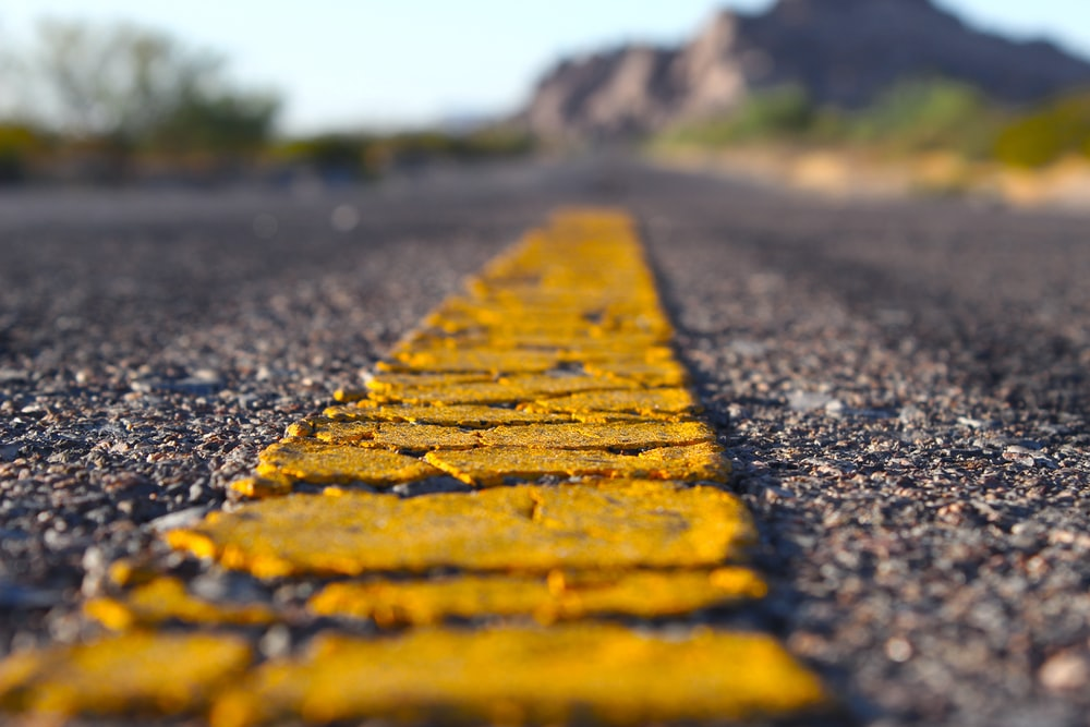 brown and yellow concrete road
