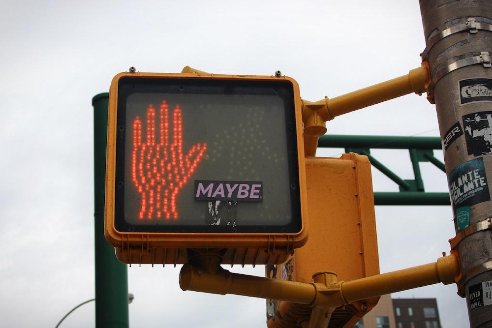 orange and black traffic light