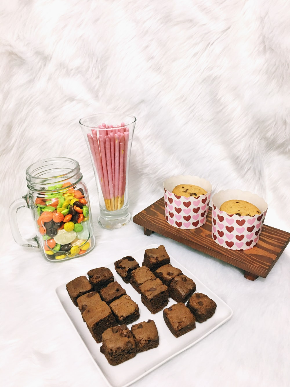 cookies on brown wooden tray