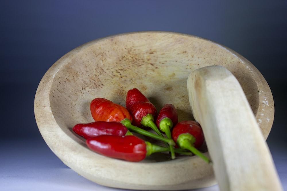 red chili on white ceramic bowl