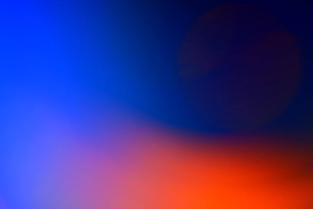 orange and blue light illustration