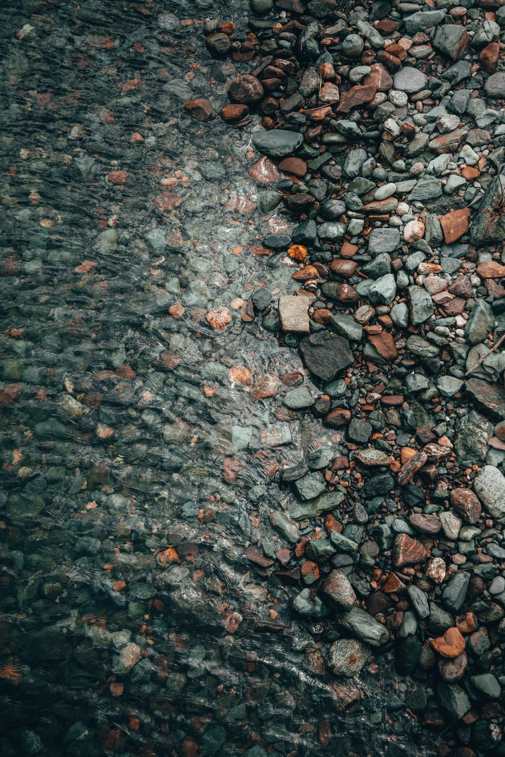 brown and gray stones on the ground