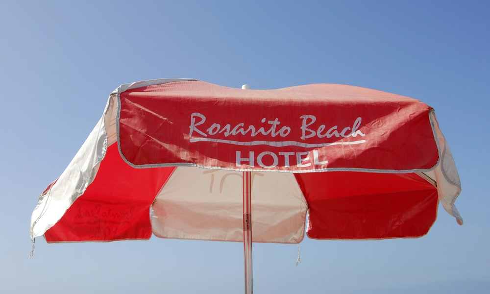 red and white coca cola flag