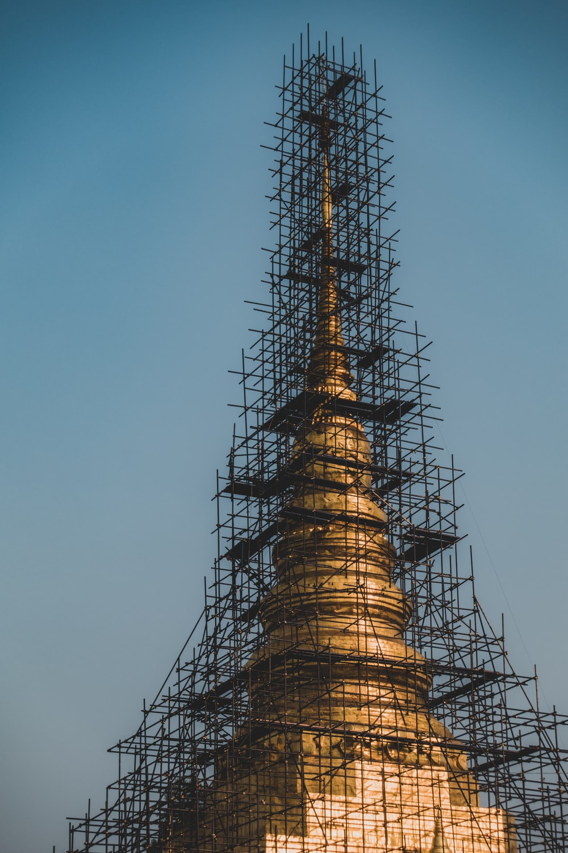 brown tower under blue sky