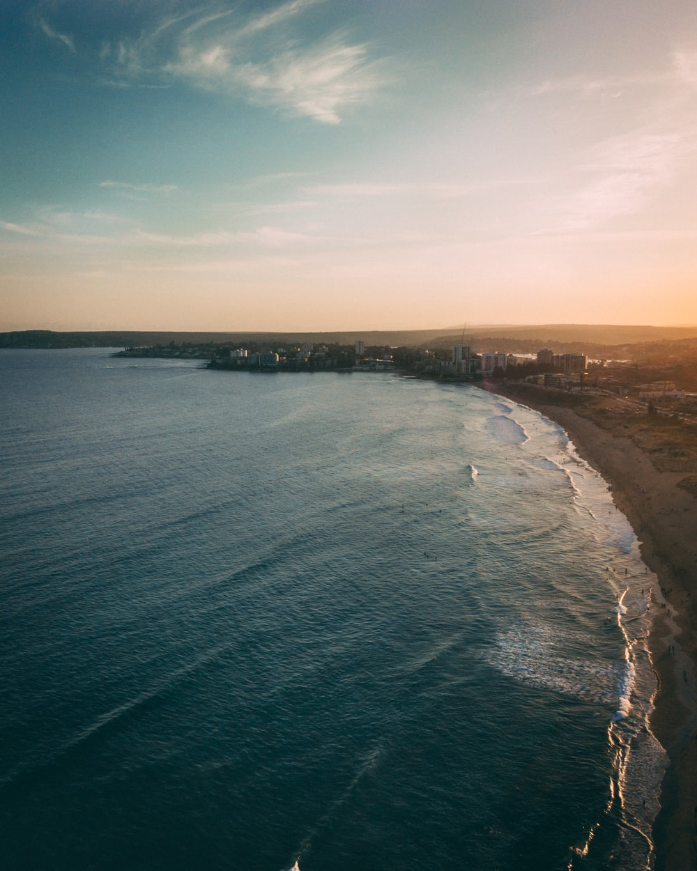 aerial view of ocean during daytime