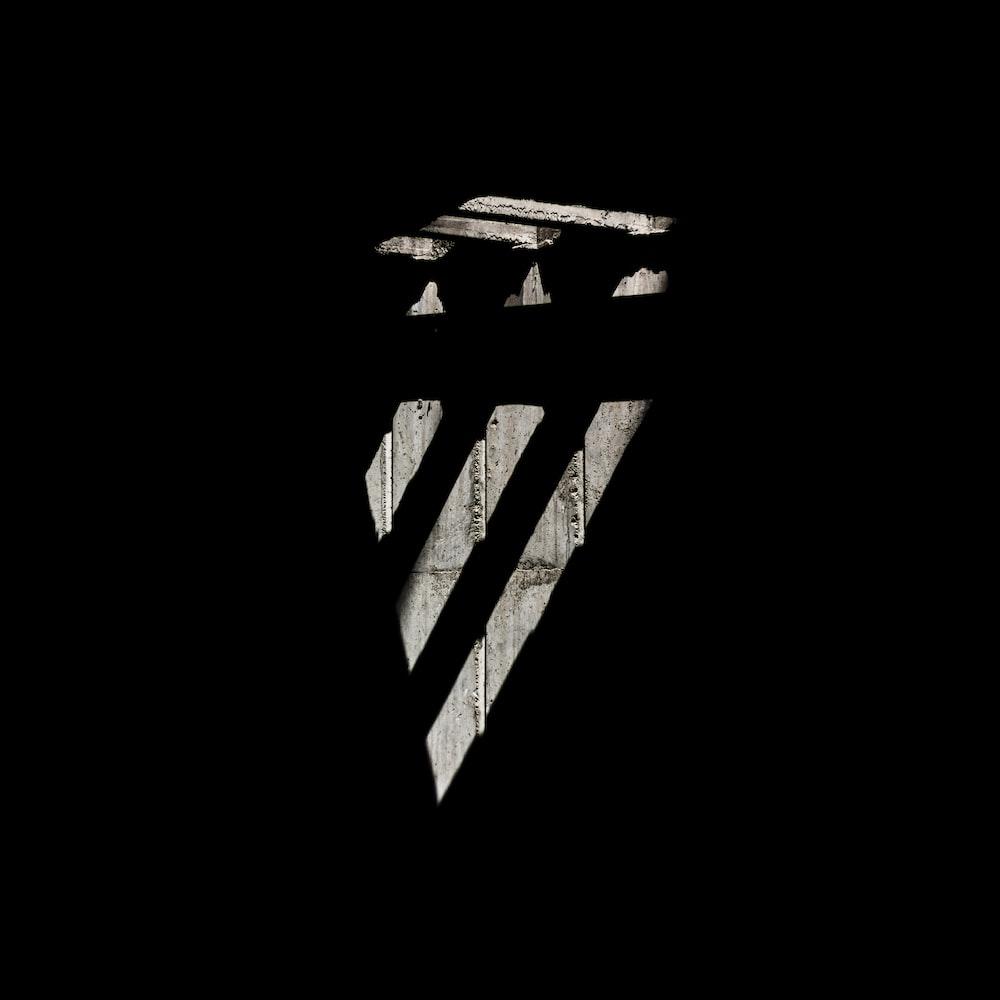 black and white striped illustration