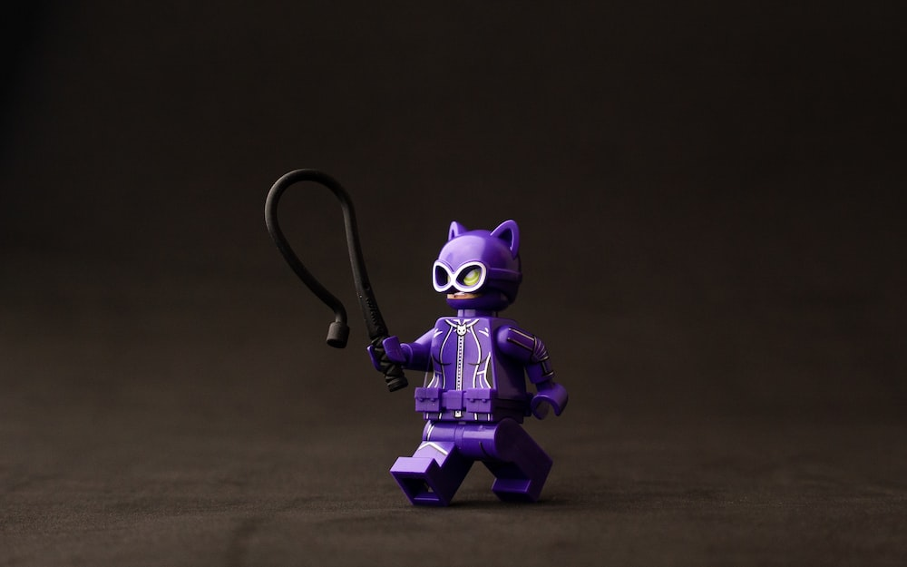 purple and black robot toy