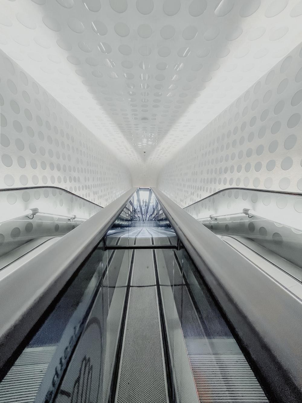 white and gray concrete building interior