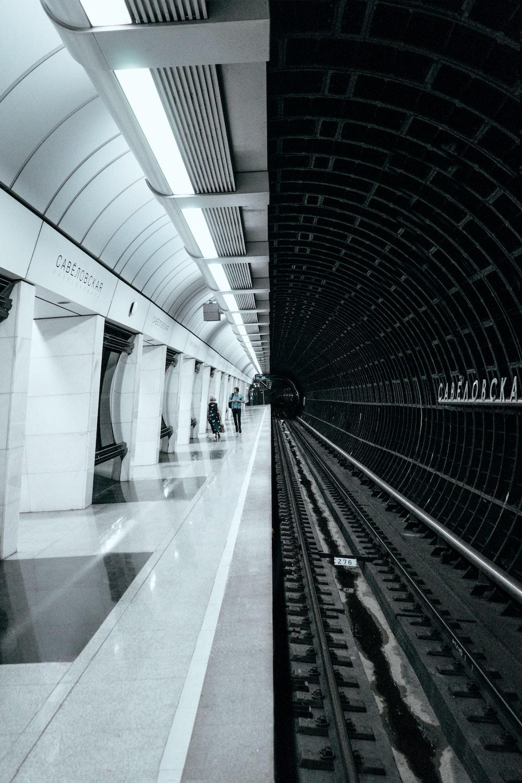 train rail in a tunnel