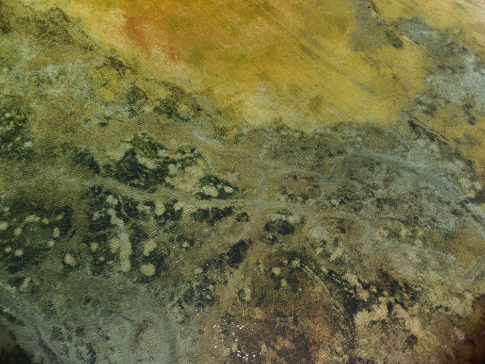 yellow and gray abstract painting