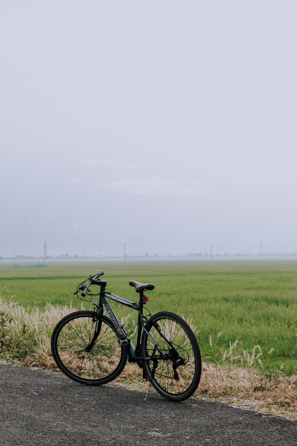 black and gray mountain bike on green grass field during daytime