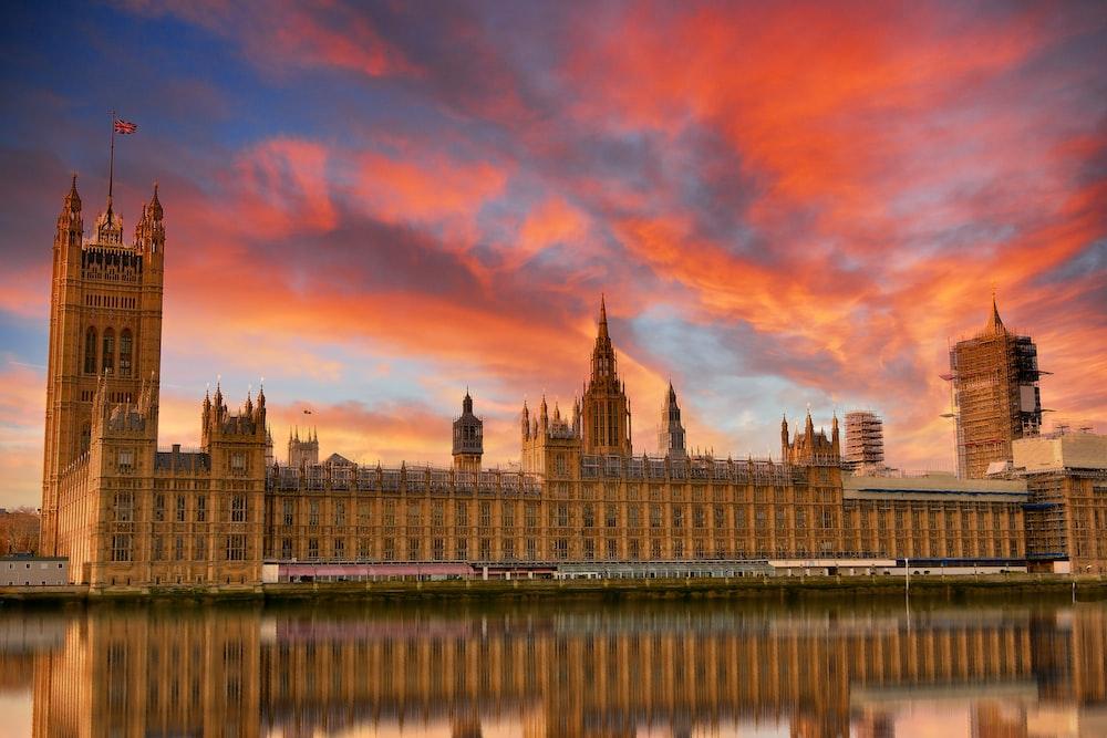 big ben london during sunset