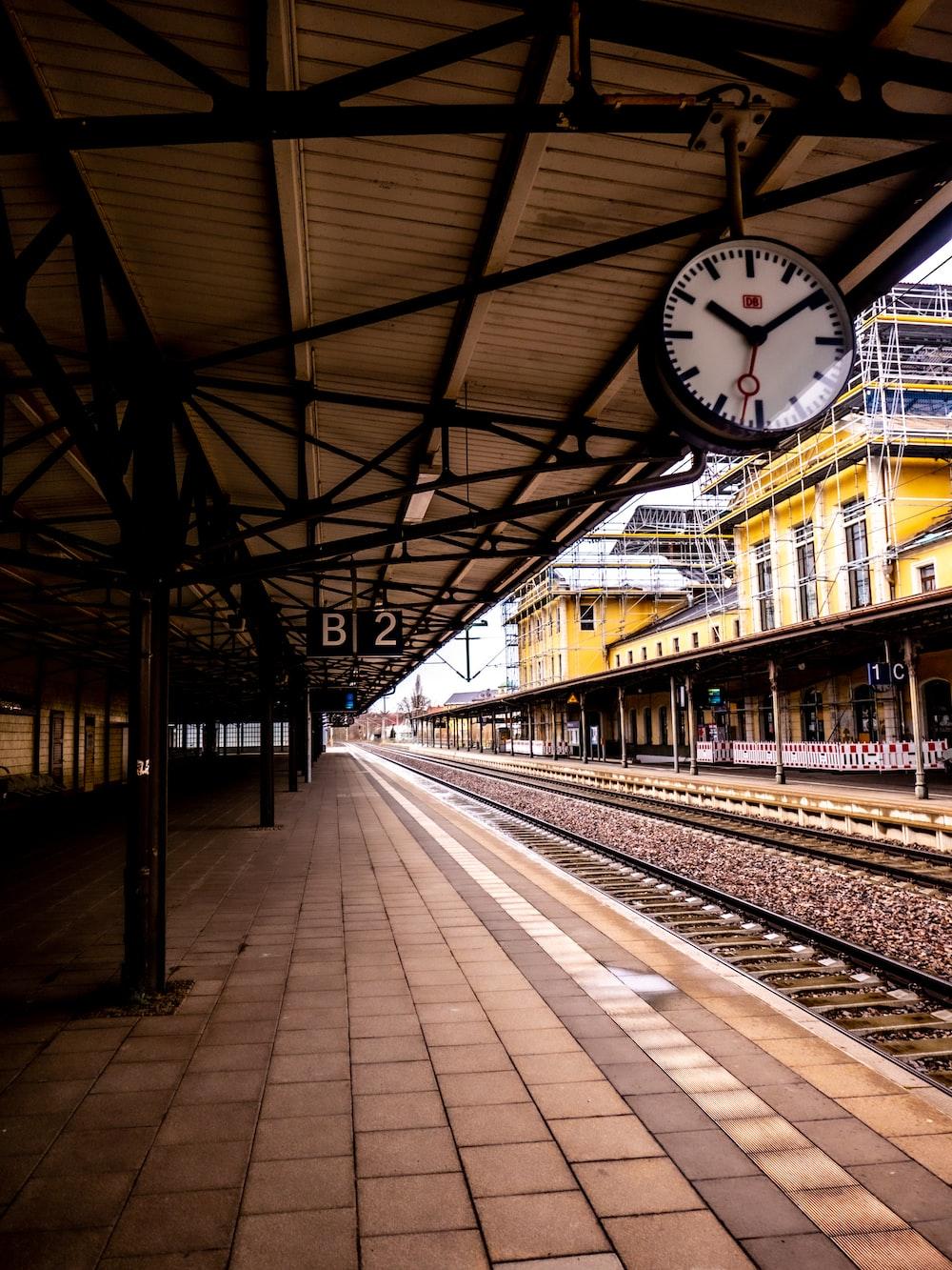 people walking on train station
