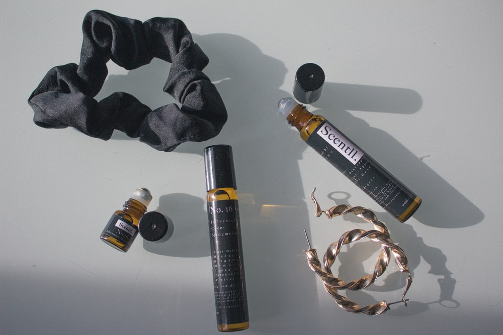 black and brown tube bottle
