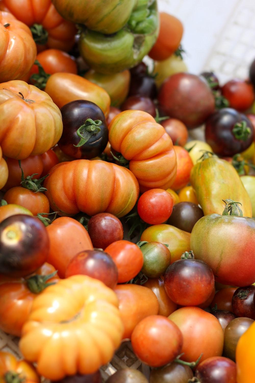 orange and green tomato fruits