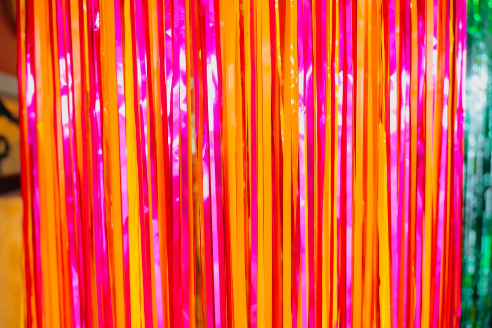 pink and yellow striped illustration