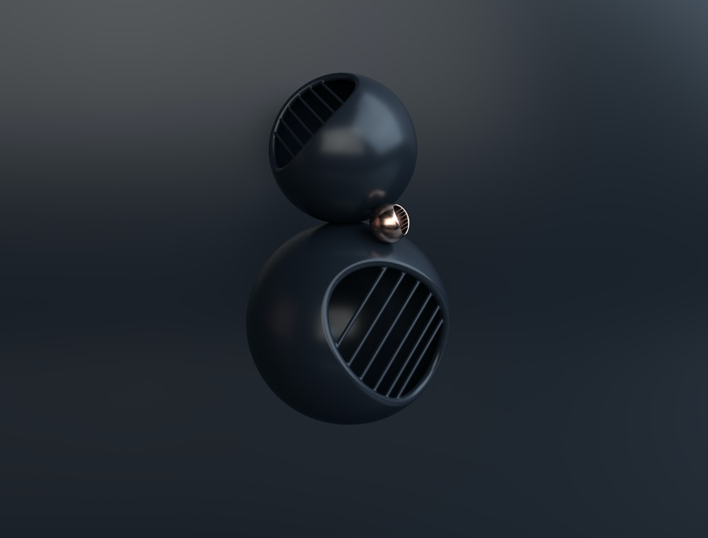 black and silver round pendant lamp