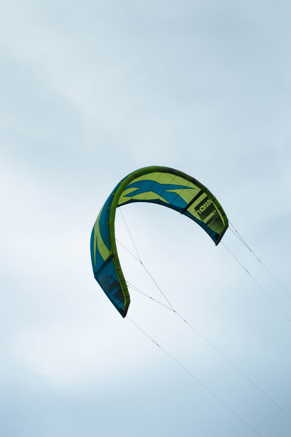 blue green and yellow parachute