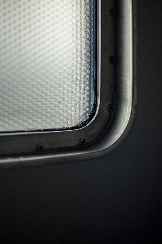 white and gray rectangular frame