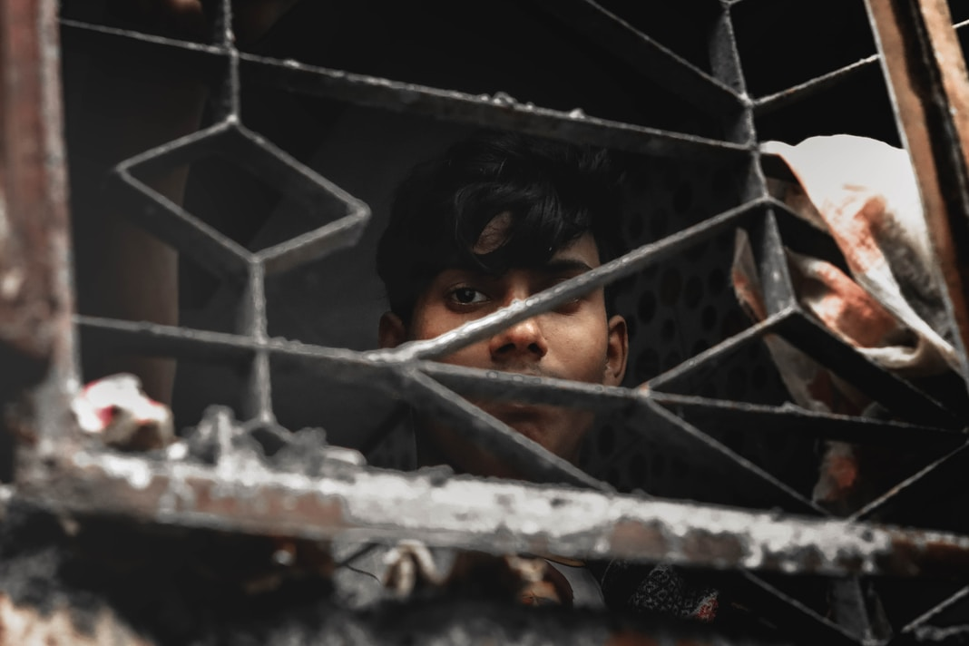 Bangladeshi Poor boy can not go outside for work because of lockdown
