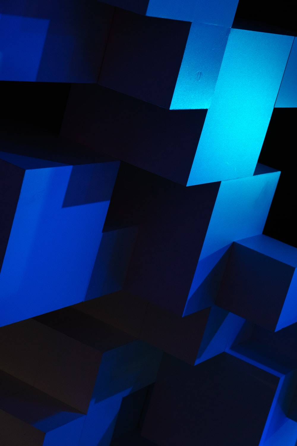 blue and black abstract illustration