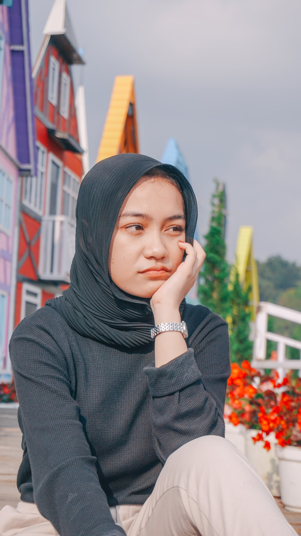 woman in black hijab and silver ring