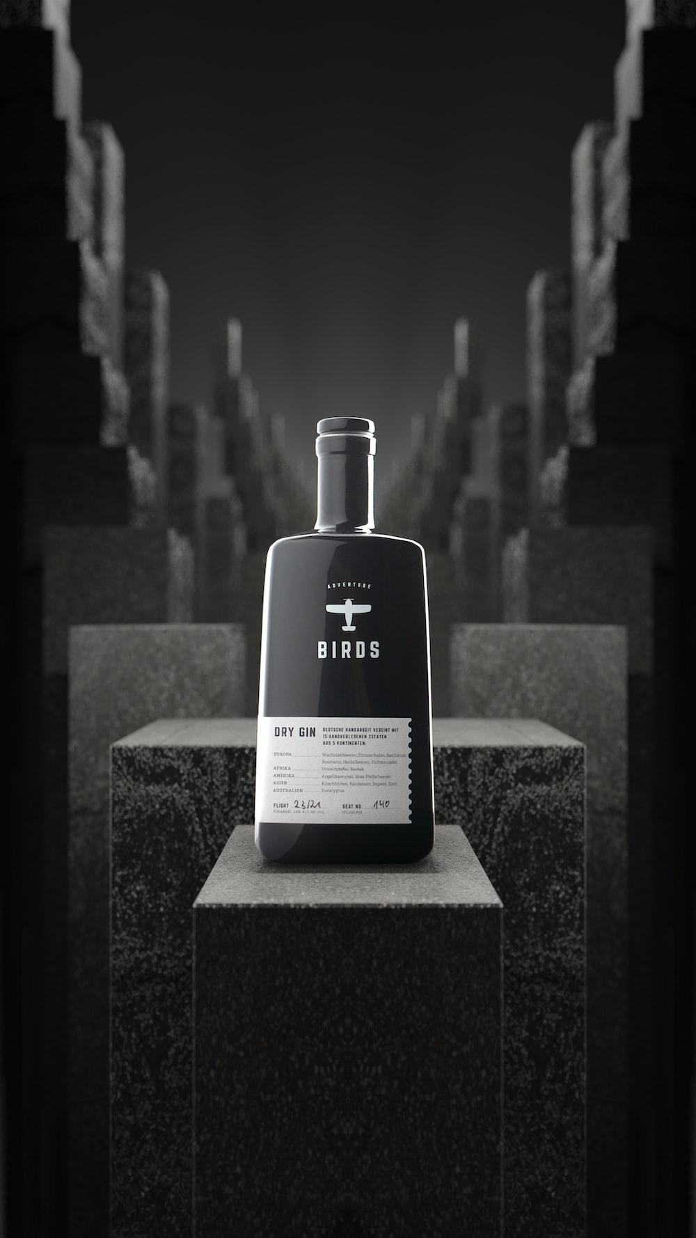 white and black calvin klein perfume bottle