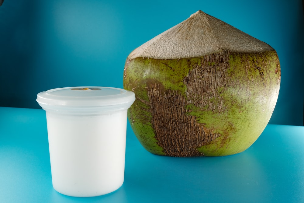 green and brown coconut shell