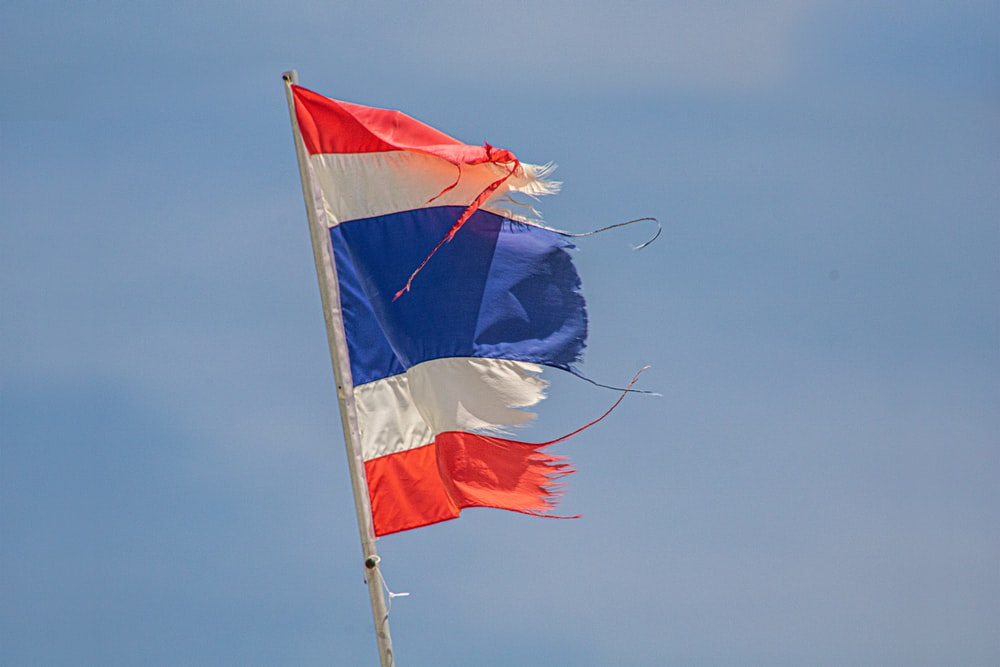 blue white and red flag