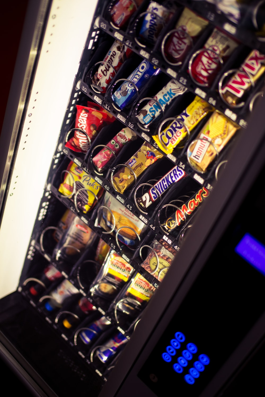coca cola bottle in vending machine