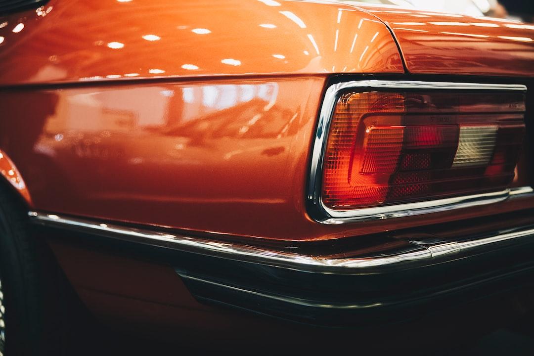 orange and black car tail light