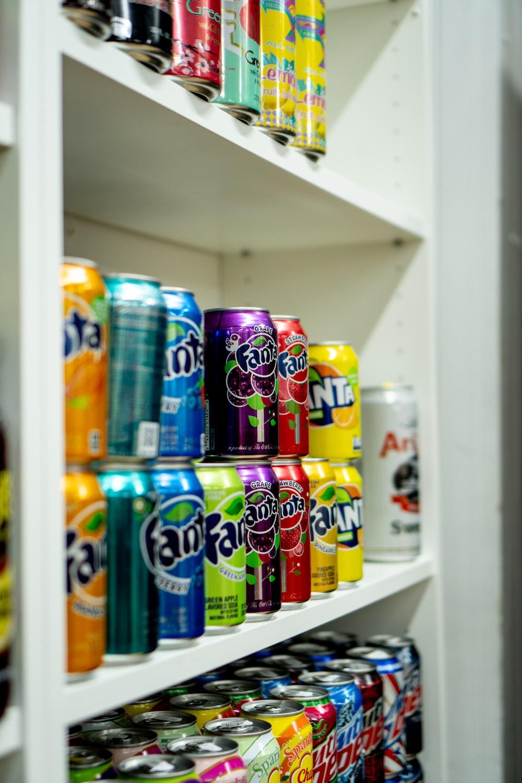 fanta and fanta soda cans