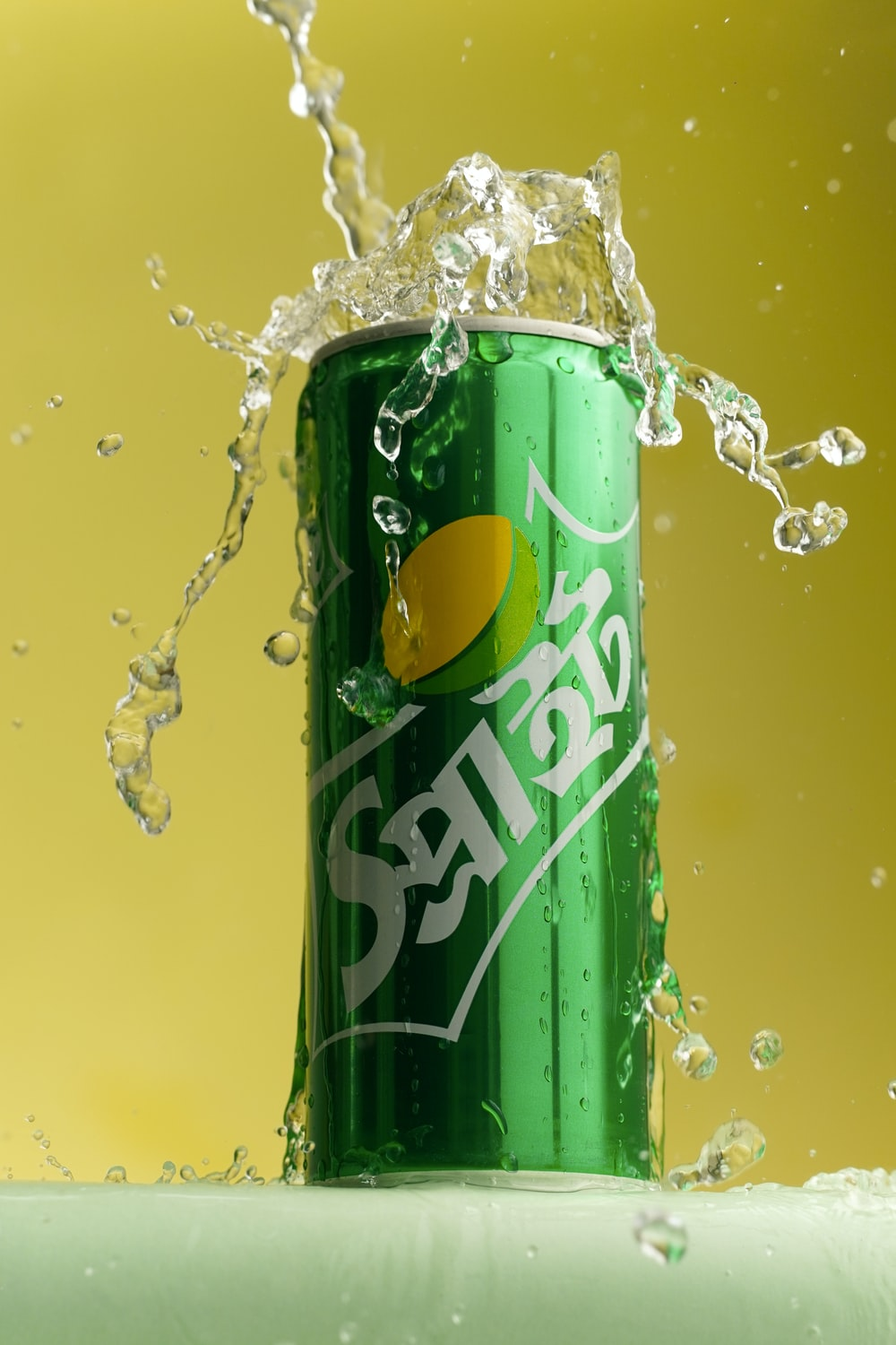 green and yellow pepsi can
