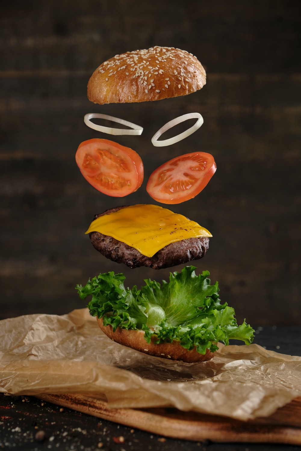 two burger with lettuce and tomato