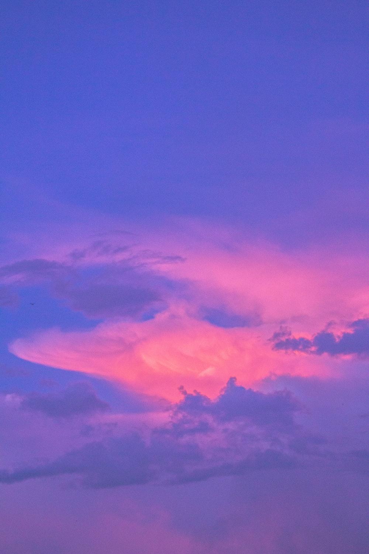 purple and orange cloudy sky