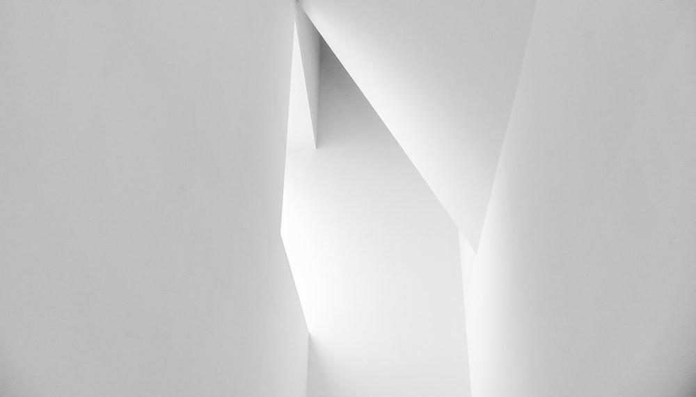 white concrete blocks in grayscale photography