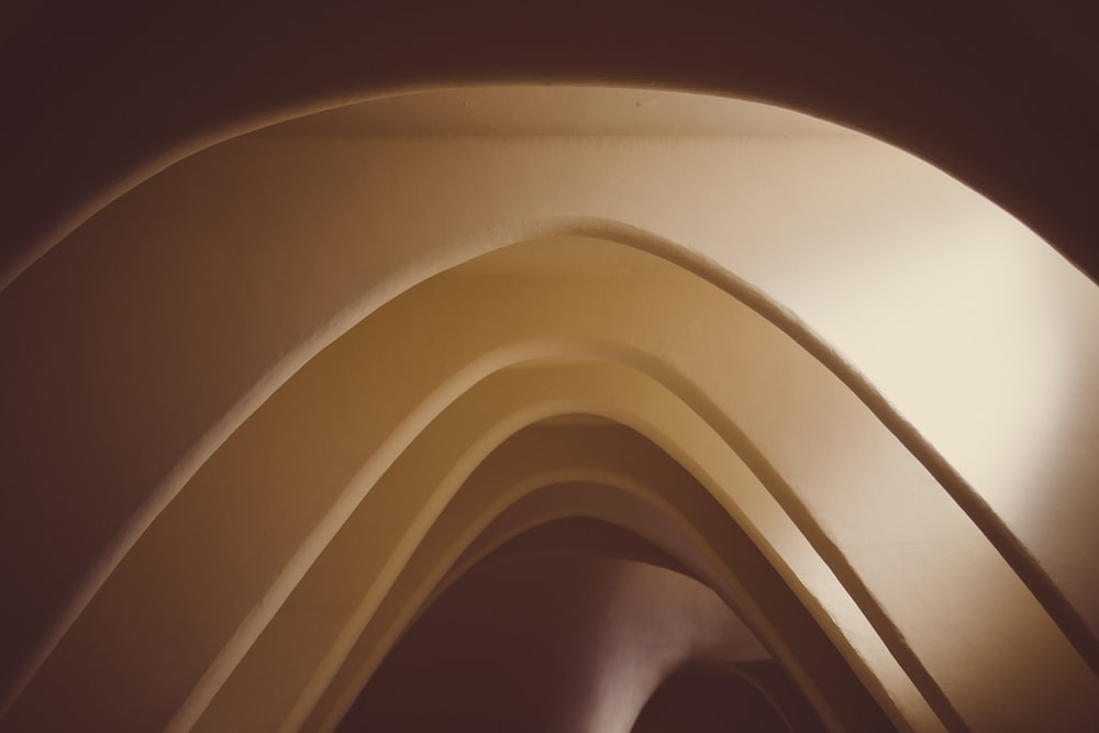 white and brown wooden ceiling