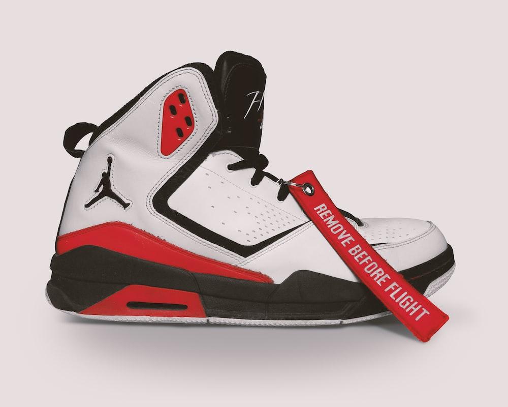 white black and red air jordan 6 shoe